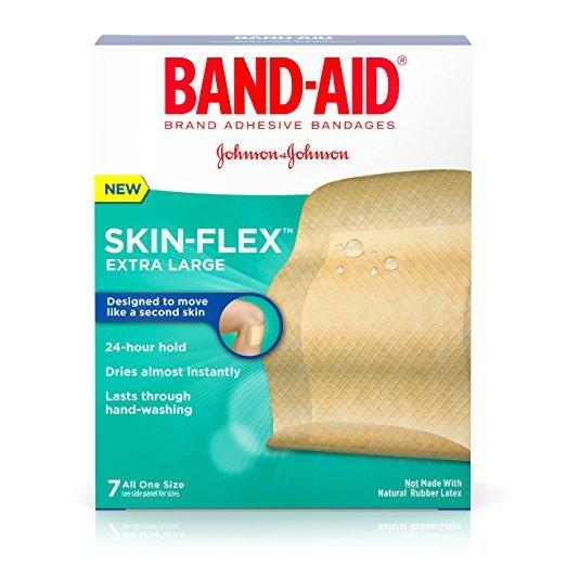 Band Aid Skin Flex Jumbo Bandage 7 Ct