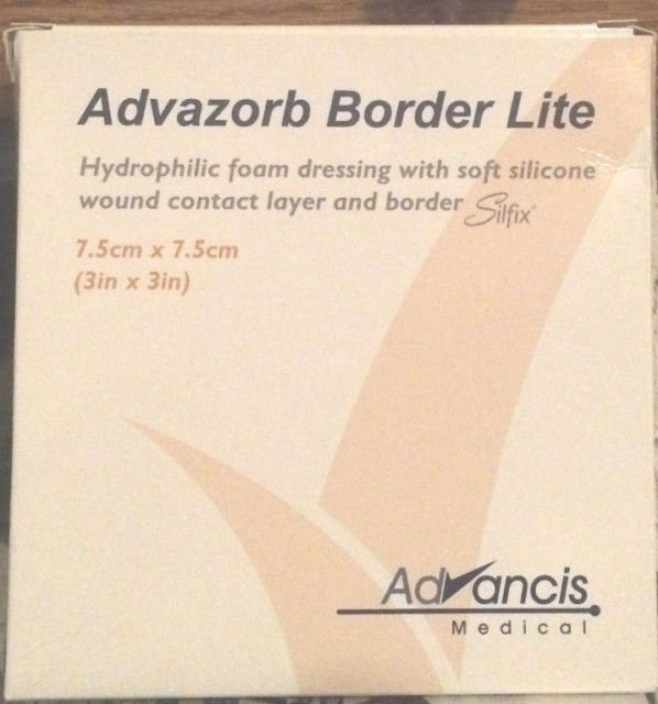 Advasorb Border Lite Foam Dressing 4 x 4 10 Ct