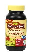 Nature Made Cranberry With Vitamin C 450 Mg 60 Gel Caps