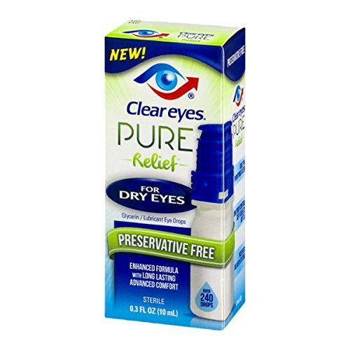 Clear Eyes Pure Relief Dry Eyes 0.34 Oz