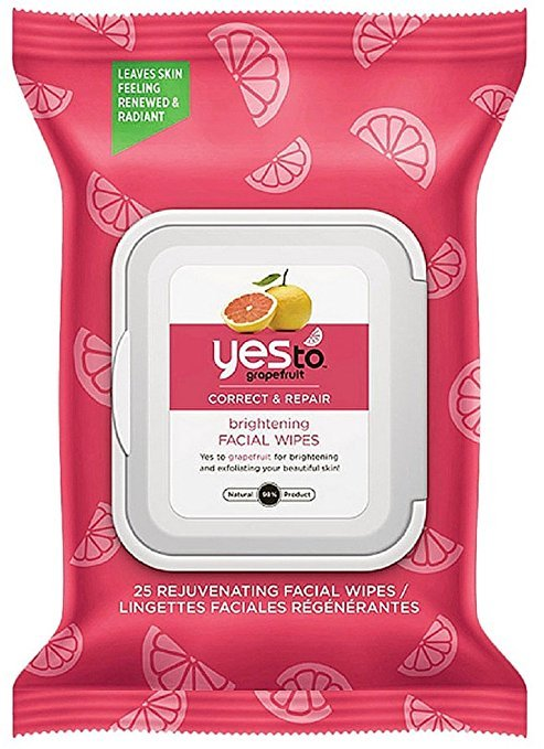 Yes To Facial Wipes Grapefruit 25 Ct