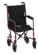 Nova 19In 329R Light Weight Transport Chair Red