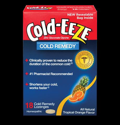 Image 0 of Cold-Eeze Box Tropical Orange 18 Lozenge