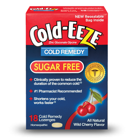 Cold-Eeze Box Sugar-Free Cherry 18 Lozenge