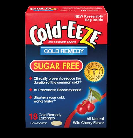 Cold Eeze Box Sugar Free Cherry 18 Lozenge