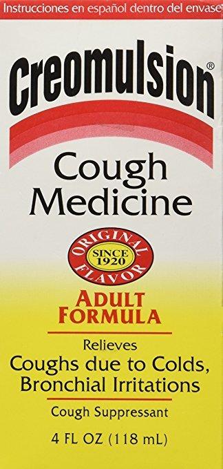 Creomulsion Adult Cough Syrup Formula 4 Oz