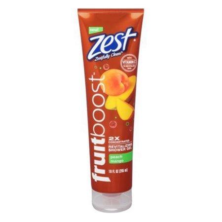 Zest Fruit Boost Shower Gel Peach Mango 10oz