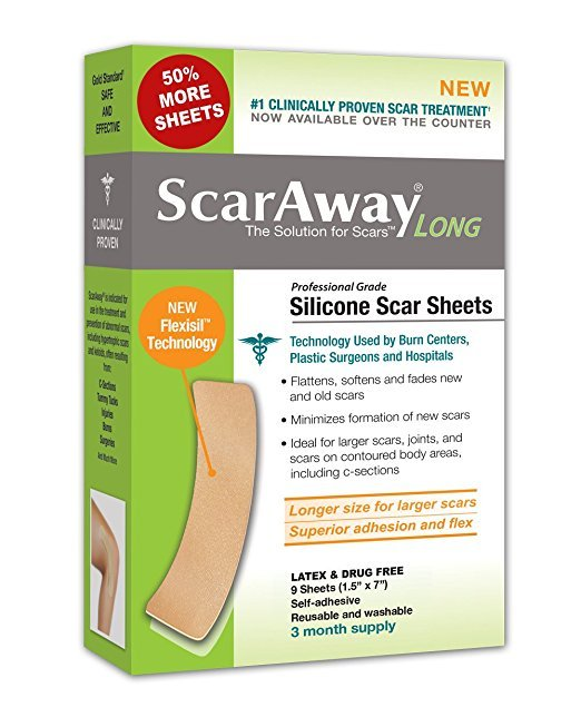 Scaraway Flexi Long Silicone Sheets 6ct
