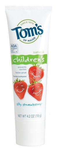 Toms of Maine Children Silly Strawberry Fluoride Toothpaste 6X4.2 oz.