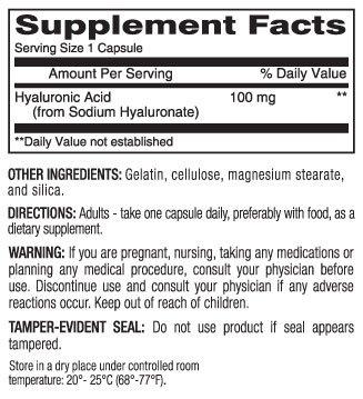 Image 1 of Mason Hyaluronic Acid 100mg 30ct Capsule