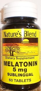 Image 0 of Natures Blend Melatonin 5 Mg Subling Tablets 60
