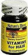 Image 0 of Natures Blend Vitamins For Hair Capsules 50