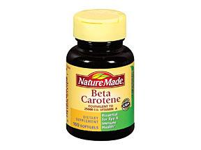 Nature Made Beta Carotene 25M IU Supplement Softgels 100