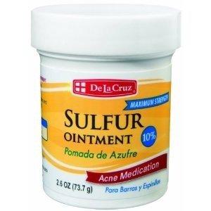 Pomada De Azufre, Sulfur Ointment 10% Acne Medication 2.6 oz