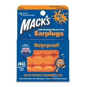 Macks Kids Size Silicone Earplugs 6 Pr