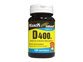 Image 0 of Mason Natural Vitamin D 400 IU Softgels - 100ct