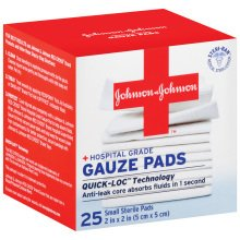 Johnson & Johnson First Aid 2 X 2 Inch Sterile Small Gaueze Pads 25