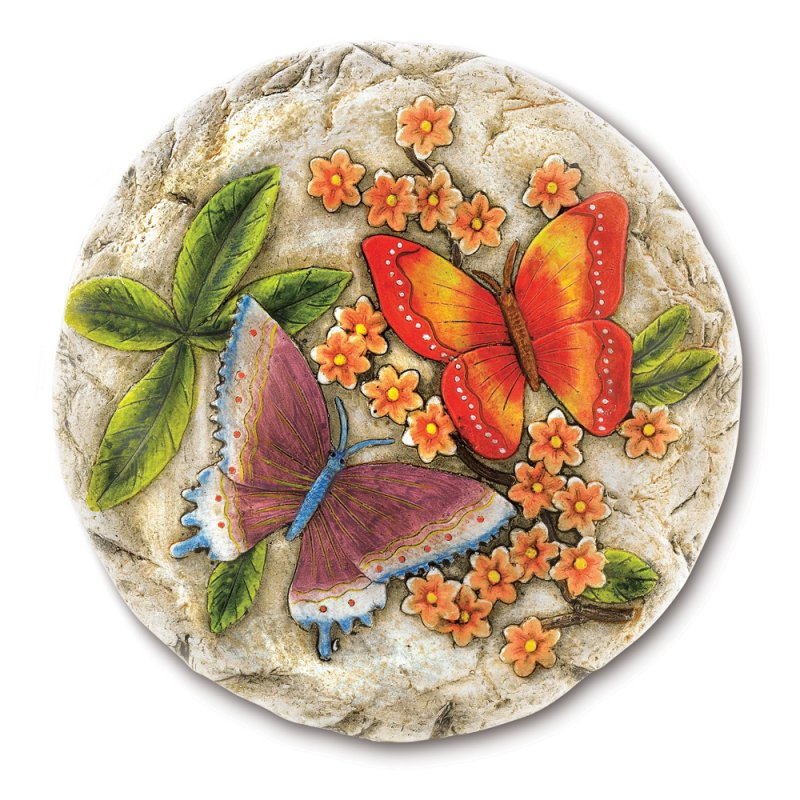 Image 1 of Butterfly Stepping Stone Garden Plaque