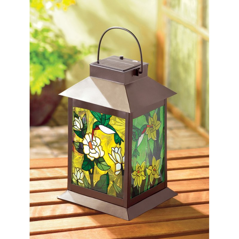 Solar Powered Floral Garden Patio Lantern