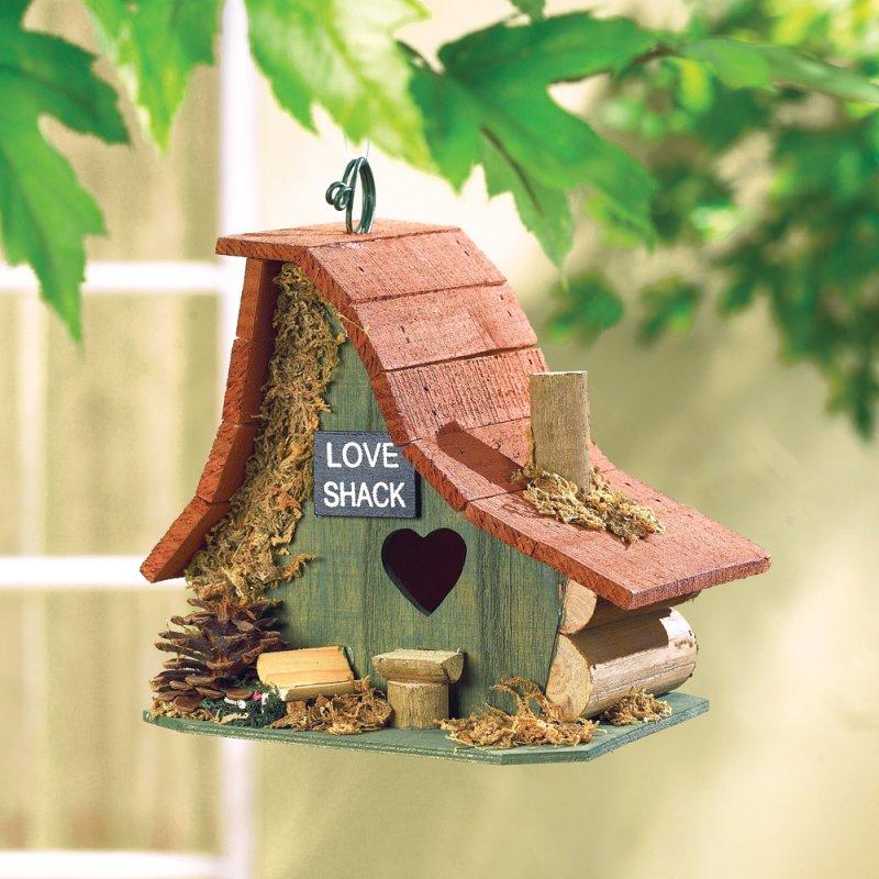 Love Shack Wood Birdhouse