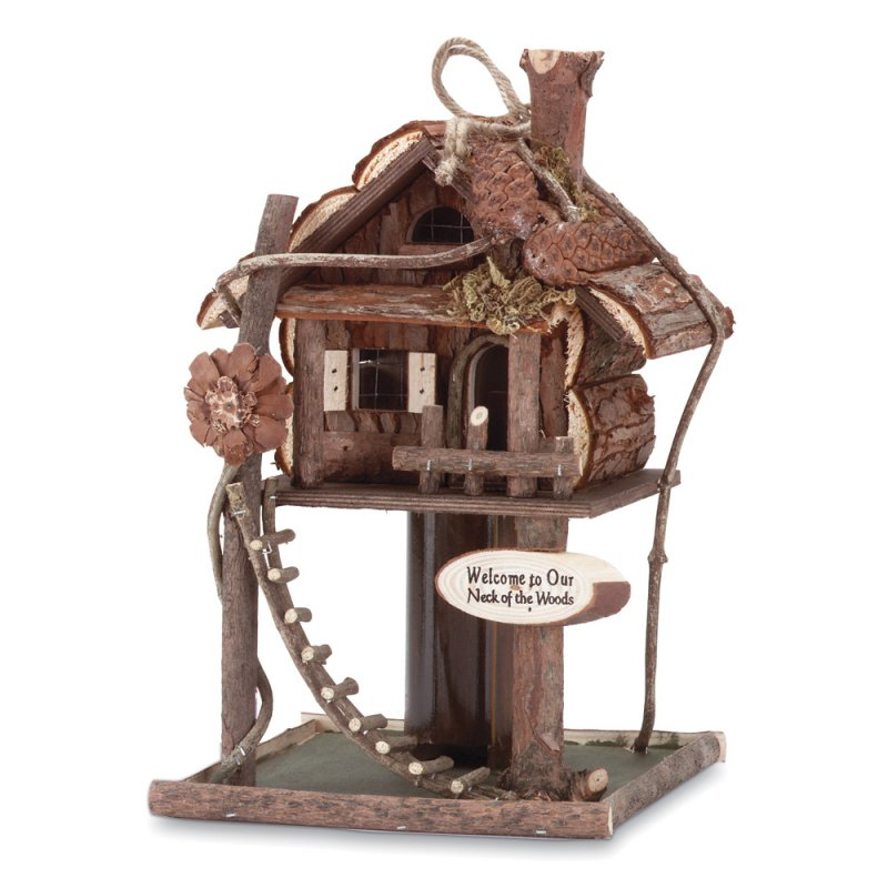 Image 0 of Treehouse Birdhouse Wood