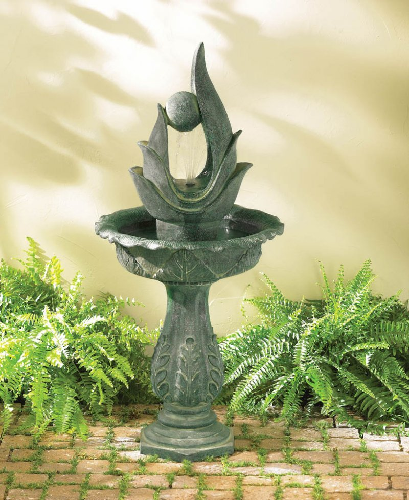 Image 0 of Stylized Abstract Designer Garden Fountain