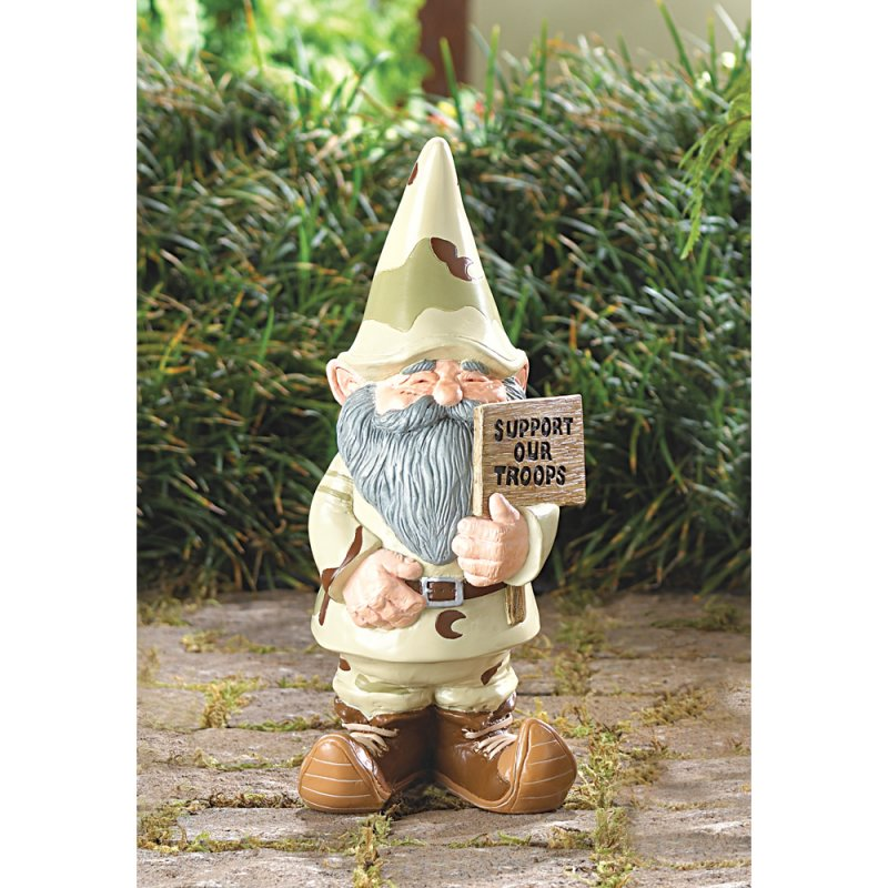Desert Camouflage Support Our Troops Garden Gnome