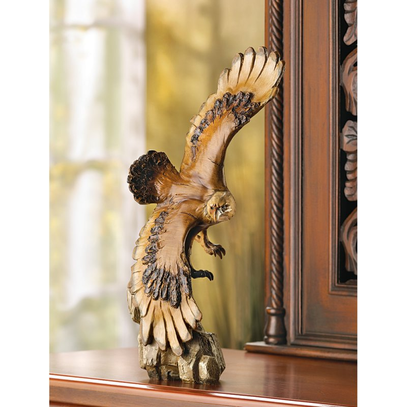Stunning Detailed Majestic Soaring Eagle Figurine Statue