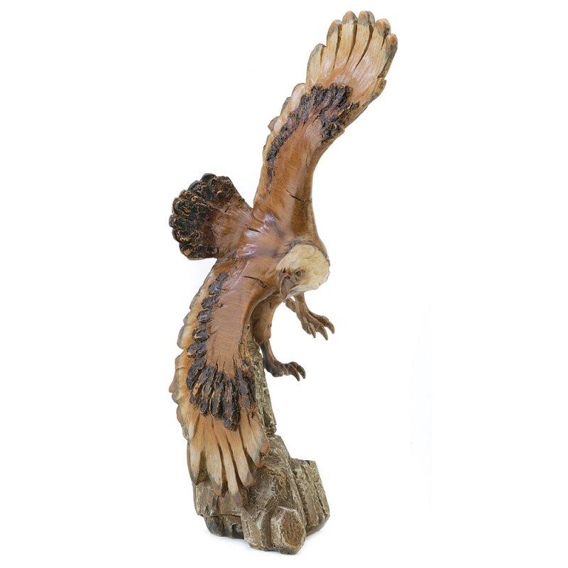 Image 1 of Stunning Detailed Majestic Soaring Eagle Figurine Statue