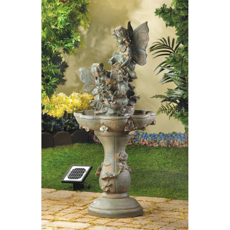 Fairy Solar Powered or Electrical Garden Water Fountain Pump Included