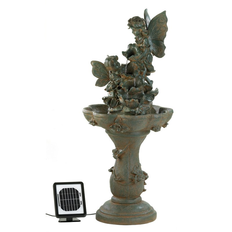 Image 1 of Fairy Solar Powered or Electrical Garden Water Fountain Pump Included