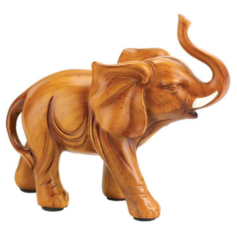 Small Elephant Figurine w/ Trunk up for Luck
