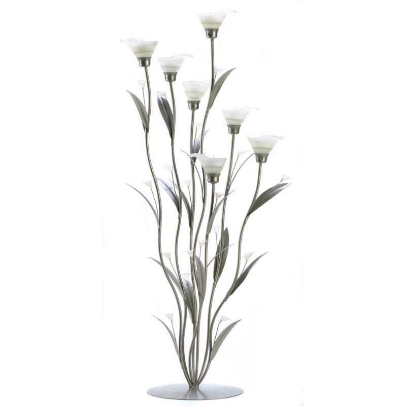 '.Silver Calla Lily Candle Holde.'