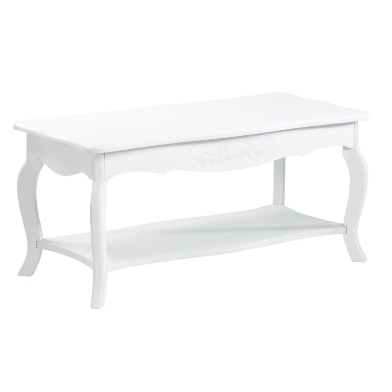 Image 1 of Elegant White Cottage Style Coffee Table