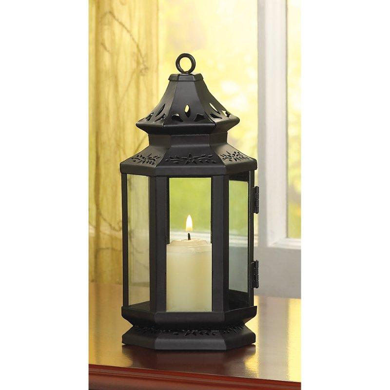 Black Stagecoach Style Lantern Western Decor