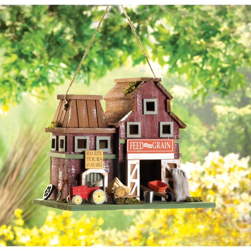 Barnyard Farmstead Feed and Grain Decorative Birdhouse