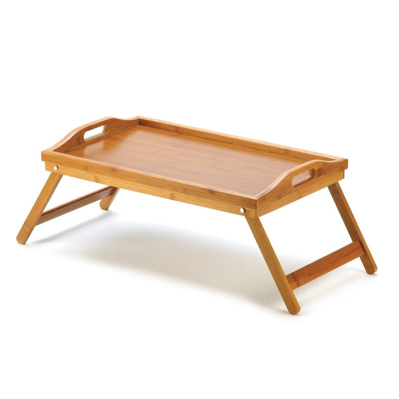 Image 2 of Bamboo Breakfast in Bed Folding Serving Tray with Handles