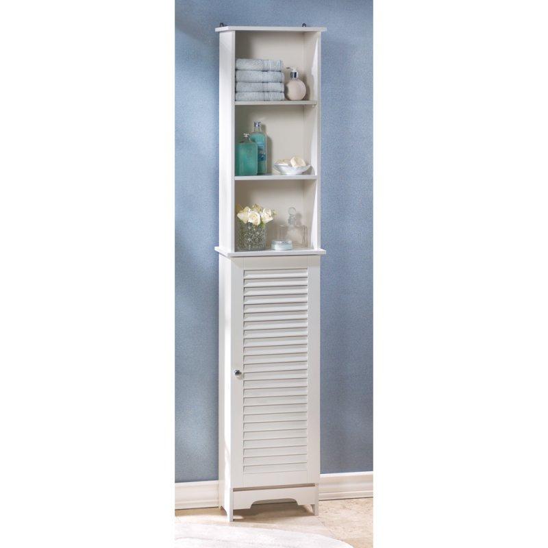 Nantucket Tall White Bathroom, Kitchen, Bedroom Storage Cabinet ...