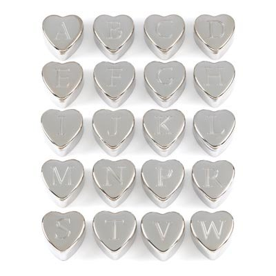 Wholesale Lot of 72 Velvet Lined Monogram Heart Keepsake Trinket Jewelry Boxes
