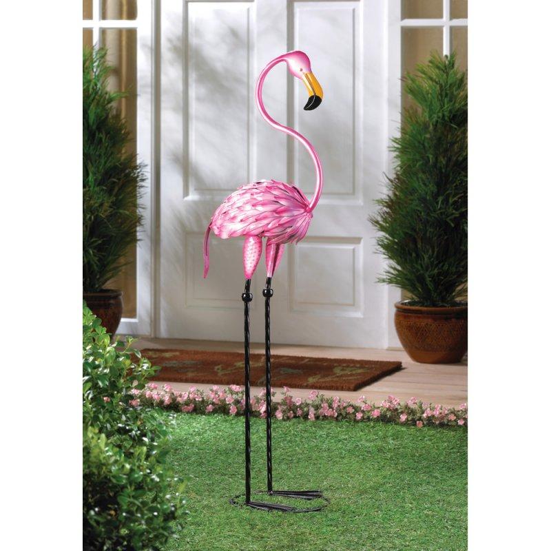 Image 0 of Tropical Tango Pink Flamingo Statue 3 feet Tall Tropical Decor