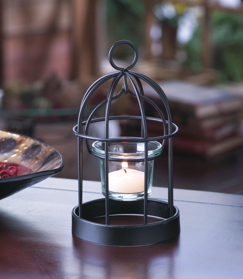 Image 0 of Mini Iron Birdcage Votive Candle Holder