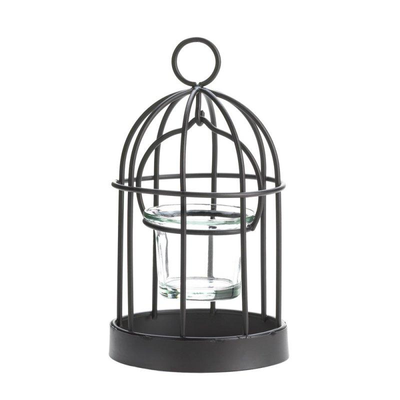 Image 1 of Mini Iron Birdcage Votive Candle Holder