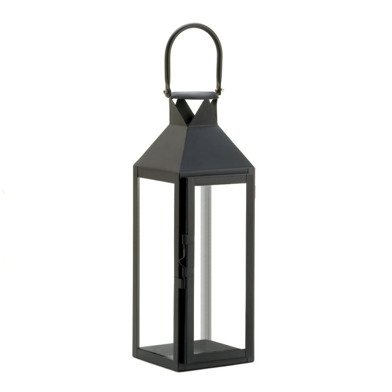 '.Black Manhattan Candle Lantern.'