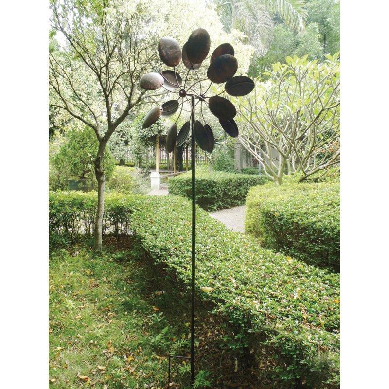 Image 1 of Double-Sided Pinwheel Windmill w/Garden Stake 84'' High Garden Decor