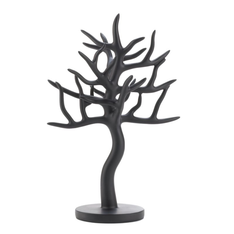 Image 1 of Matte Black Tree Jewelry Holder Stand Sculpture