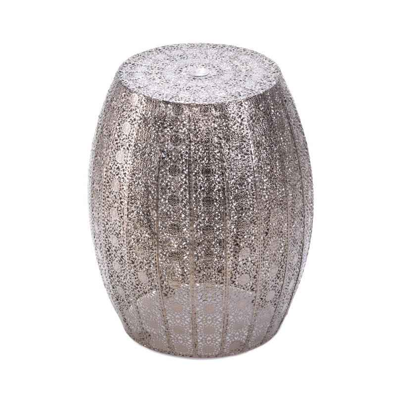 Moroccan Lace Design Metal Side Table Stool Footstool Display or Plant Stand  sc 1 th 225 & Moroccan Lace Design Metal Side Table Stool Footstool Display ... islam-shia.org