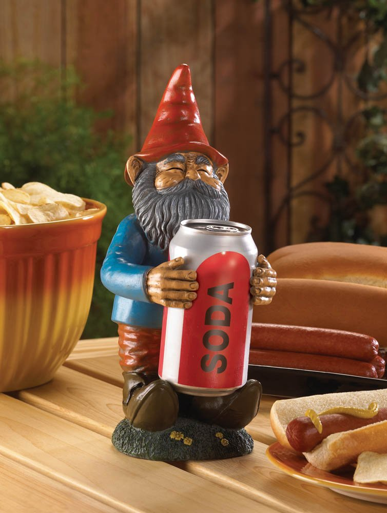 Image 1 of Buddy Garden Gnome To Hold a Can of Beer or Soda