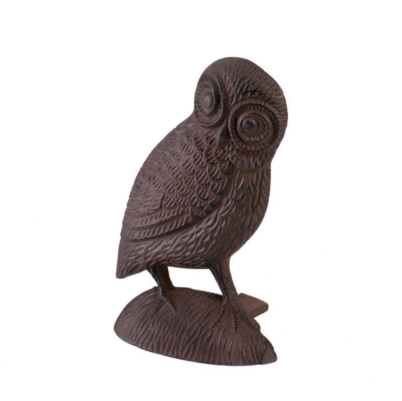 Image 1 of Owl Door Stopper Figurine Cast Iron