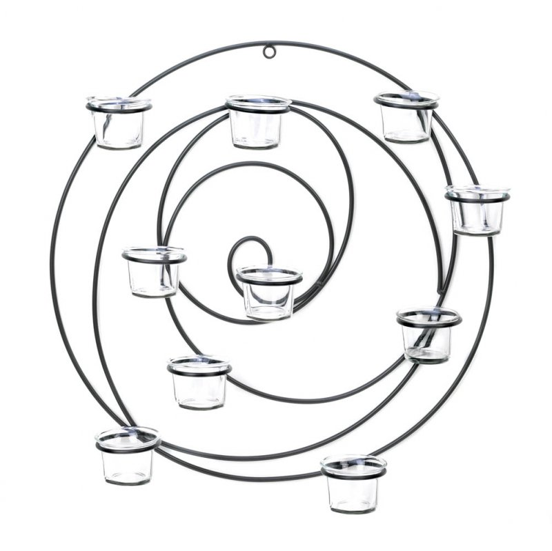 Image 1 of Hypnotic Circular 10 Cup Candle Wall Sconce