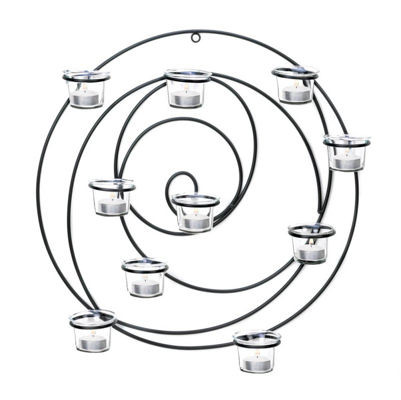 Image 2 of Hypnotic Circular 10 Cup Candle Wall Sconce